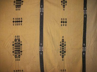 Manteau, Mali, façonné de laine tabac rayé...