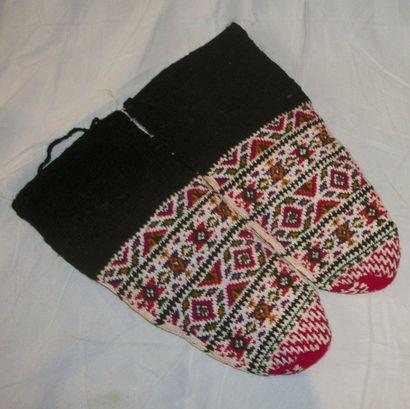 Paire de chaussettes, Europe Balkanique,...