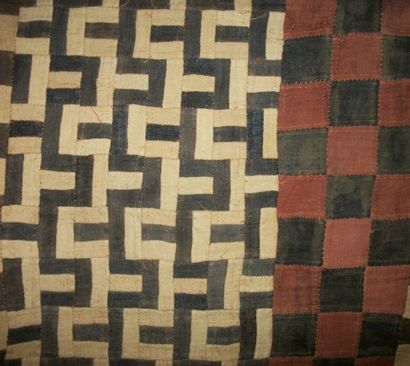 Vêtement Bak, Indonésie, écorce peinte au...