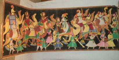 Batik, Inde, la caravane du sultan et de...