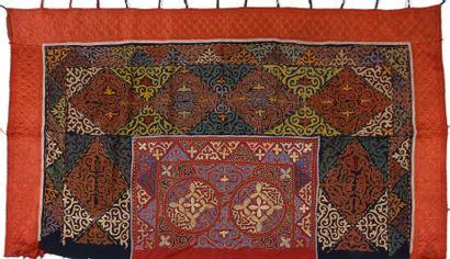 Tenture murale de yourte, Ouzbékistan, feutre...