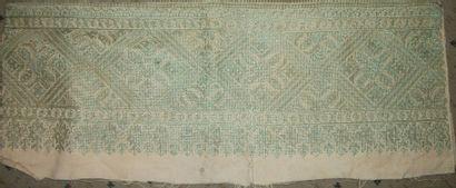Bordure en broderie, Maroc, Fès, XIXème siècle,...