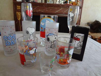 SNOOPY - Lot de 10 verres