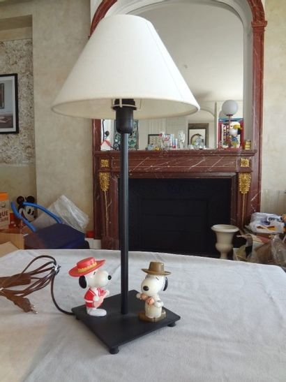 SNOOPY - lampe 2 personnages