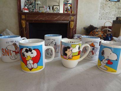 SNOOPY - Lot de 6 mugs