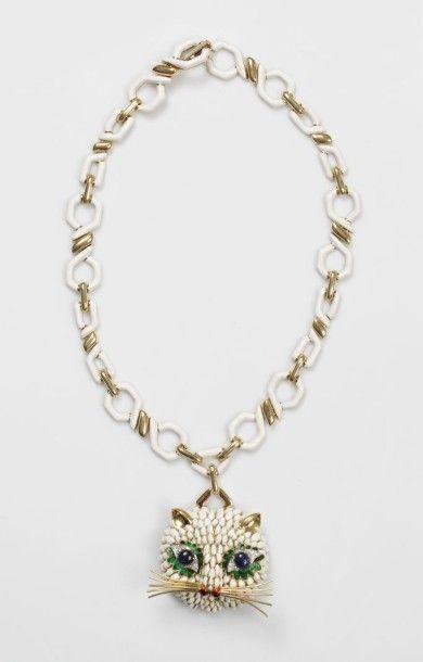 Important COLLIER en or jaune 14 carats (585...