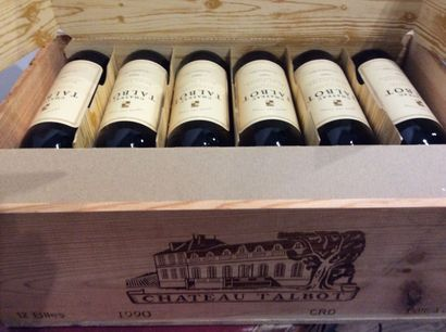 12 Bouteilles - Château Talbot, 1990, 4e...
