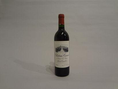 12 Bouteilles - Château Canon, 1993, 1er GCC de Saint Emilion (9 étiquettes en mauvais...