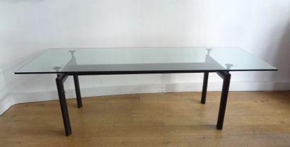 LE CORBUSIER - TABLE LC6 en acier laqué noir...