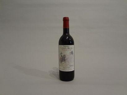 5 Bouteilles - Château la Croix de Bel Air, 1997, Côtes de Bourg (5 étiquettes en...