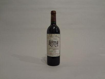 6 Bouteilles - Château la Gurgue, 1997, Margaux (5 étiquettes en mauvais état et...