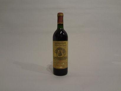 4 Bouteilles - Château l'Angélus, 1986, 1er GCC de Saint Emilion (4 étiquettes en...