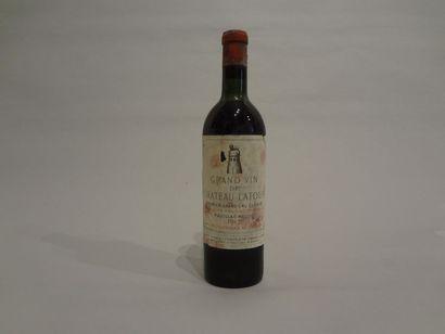 1 Bouteille - Château Latour, 1957, 1er GCC...