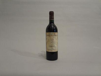 3 Bouteilles - Château Marquis de Terme, 1987, GCC de Margaux (3 étiquettes en mauvais...
