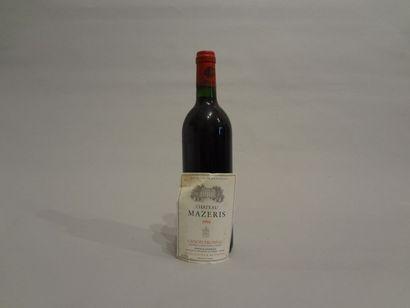 6 Bouteilles - Château Haut-Mazeris, 1994, Canon-Fronsac (6 étiquettes en mauvais...