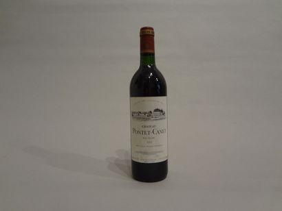 6 Bouteilles - Château Pontet Canet, 1991,...