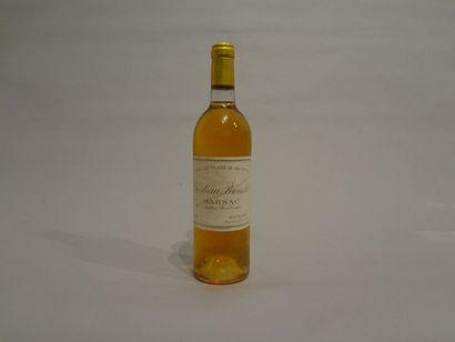 1 Bouteille - Château Broustet, 1981, 2e GCC de Barsac (étiquette en mauvais état;...