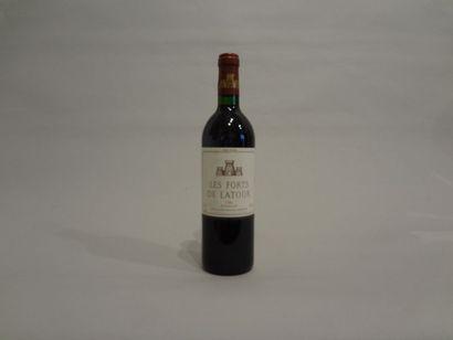 6 Bouteilles - Les Forts de la Tour, 1986, 2d vin La Tour, Pauillac (4 étiquettes...