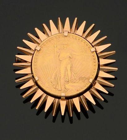 Clip de revers en or jaune 750 millièmes...