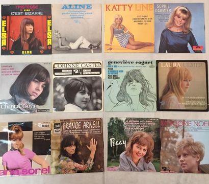 CHANSON FRANCAISE Lot de 15 disques EP chanteuses Française comprenant Dominique...
