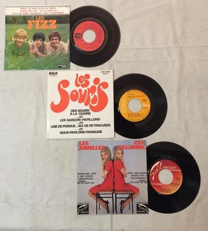 CHANSON FRANCAISE Lot de 3 disques 45 T EP de chanteuses Françaises comprenant :...