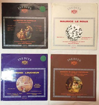 PRODUCTIONS ORTF Lot de 34 disques 33 T de musique Classique, musique contemporaine...