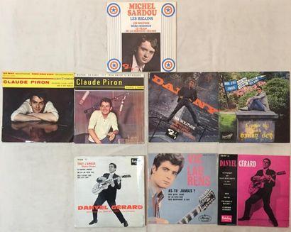 CHANSON FRANCAISE Lot de 8 disques 45T EP chanteurs Français comprenant Vic Laurens...