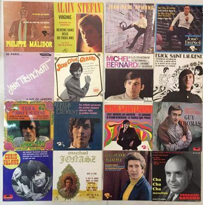 CHANSON FRANCAISE Lot de 81 disques 45 T EP de chanteurs Français. VG+ à NM / VG+...