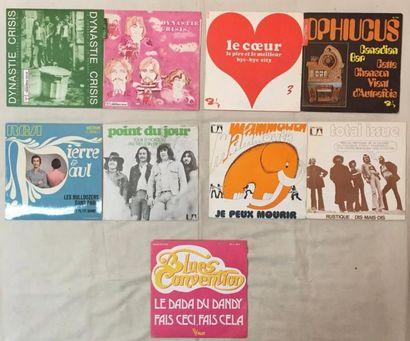 POP / ROCK Lot de 25 disques 45 T Rock Psychédélique, Progressif et Folk Français.....