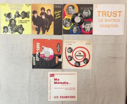 POP / ROCK Lot de 39 disques 45 T de musiques Progressive, Rock, Pop… interprétées...