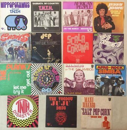 POP / ROCK Lot de 29 disques 45 T et de 2 disques 45 T EP de musiques Psychédelique,...