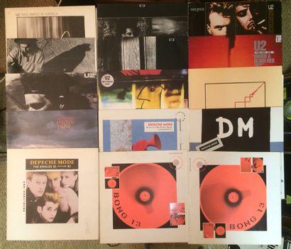 NEW WAVE Lot de 49 disques 33 T / disques Maxi 45 T et 11 disques 45 T de New Wave...