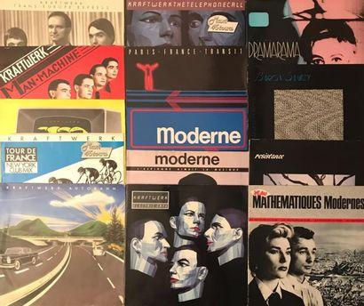 NEW WAVE Lot de 14 disques 33 T et 10 disques 45 T de musique Electro. VG à EX/ VG...