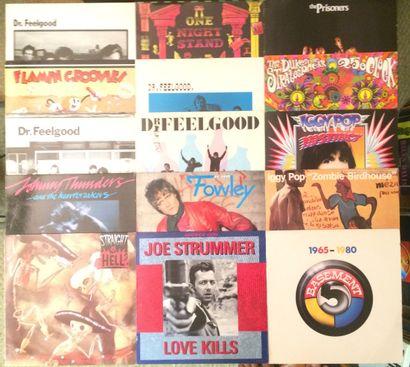 PUNK Lot de 76 disques 33 T et 9 disques 45 T de Rock, Pub-Rock, Garage, Punk et...