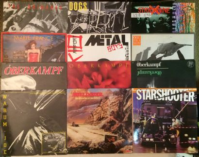 PUNK Lot de 27 disques 33 T Punk Français. VG+ à EX / VG+ à EX Set of 27 LP's of...