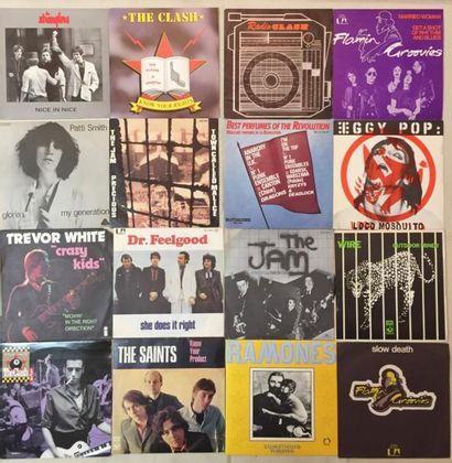 PUNK Lot de 16 disques 45 T de Punk comprenant Flamin' Groovies – Slow death (UNITED...