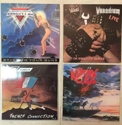 HARD ROCK / METAL Lot de 83 disques 33 T de Hard Rock et Métal. VG + à EX / VG+ à...