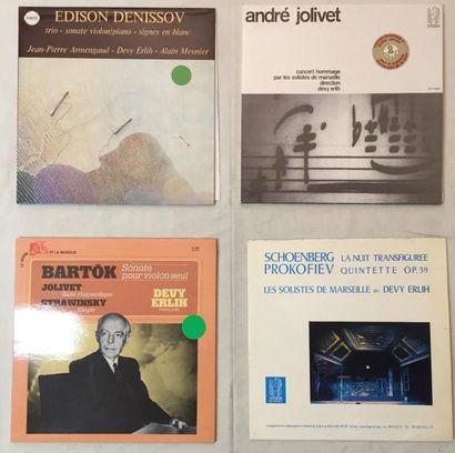 MUSIQUE CLASSIQUE Lot de 7 disques 33T de Devy Erlih comprenant : Devy Erlih et Edouard...