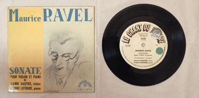 MUSIQUE CLASSIQUE 1 disque 33 T de Jeanne Gautier et Yvonne Lefébure comprenant...