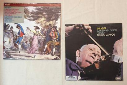 MUSIQUE CLASSIQUE Lot de 2 disques 33 T musique Classique Violonistes comprenant...