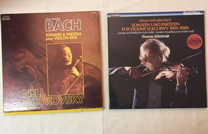 MUSIQUE CLASSIQUE Lot de 18 disques 33 T et 4 coffrets de musique Classique Violonistes....
