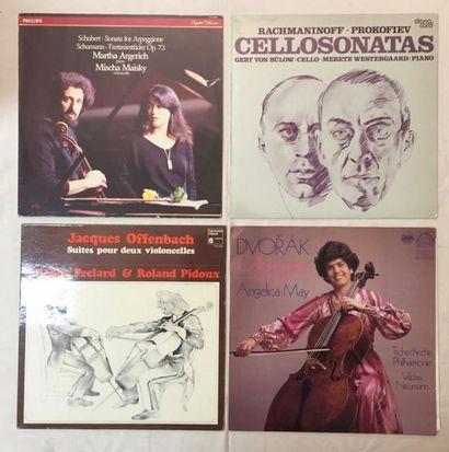 MUSIQUE CLASSIQUE Lot de 23 disques 33 T de musique Classique Violoncelliste. VG...