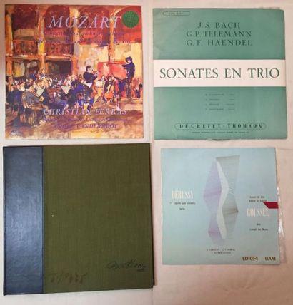 MUSIQUE CLASSIQUE Lot de 12 disques 33 T, de 2 disques 45 T EP et de 1 coffret de...