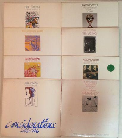 MUSIQUES EXPERIMENTALES Lot de 8 disques 33 T de musique Expérimentale et Free Jazz...