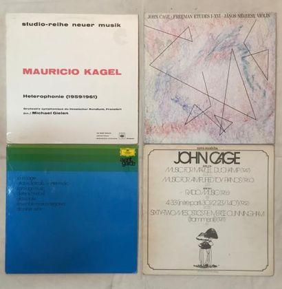 MUSIQUES EXPERIMENTALES Lot de 8 disques 33 T et de 2 coffrets de musique expérimentale...