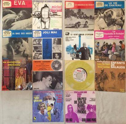 BANDES ORIGINALES DE FILMS Lot de 10 disques 45 T EP et de 4 disques 45 T de musiquse...