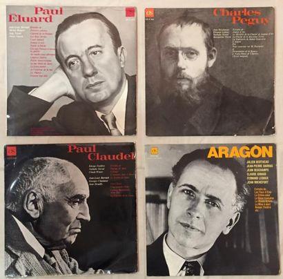 POESIE / DICTION Lot de 28 disques 33 T et 6 coffrets de poésie et diction. VG à...