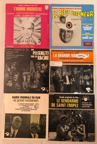 BANDES ORIGINALES DE FILMS Lot de 8 disques 45 T EP / disques 45 T et de 3 disques...