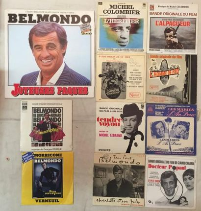 BANDES ORIGINALES DE FILMS Lot de 9 disques 33 T et 16 disques 45 T de musiques de...