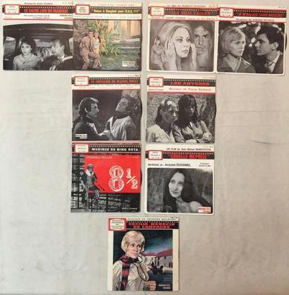 BANDES ORIGINALES DE FILMS Lot de 25 disques 45 T EP de musiques de films sur le...